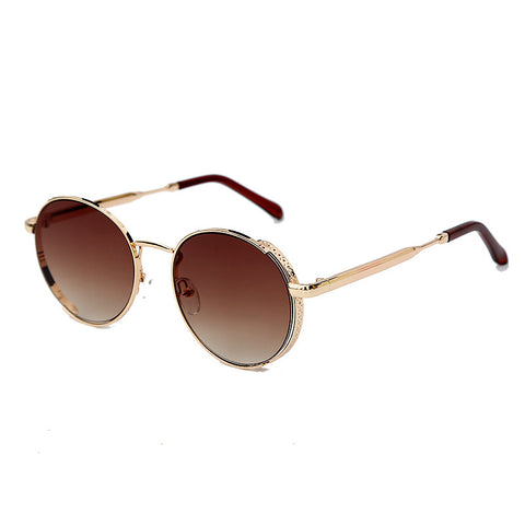New round frame trend, all kinds of women's colorful polarized sunglasses
