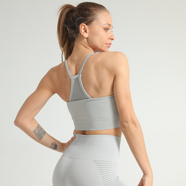 Backless Mesh Seamless Bra