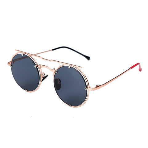 Fashion metal double beam sunglasses