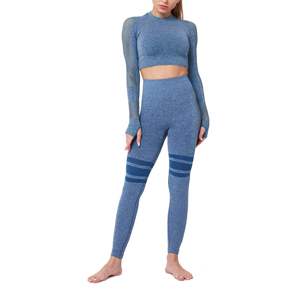 Seamless Yoga Suit with Hip Yoga Pants