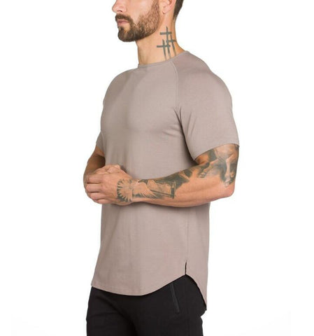 2019 Summer New mens gyms T shirt Slim fit Bodybuilding and Fitness Fashion Male Short Tops