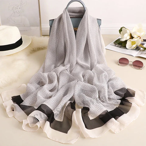 2020 Air conditioning shawl with sweet and fashionable decorative scarf
