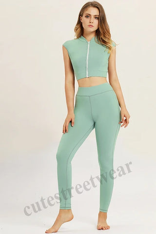 2020 Spring and Summer Fitness Duit Hip Yoga Suit Exercise Vest Women's Fitness Suit