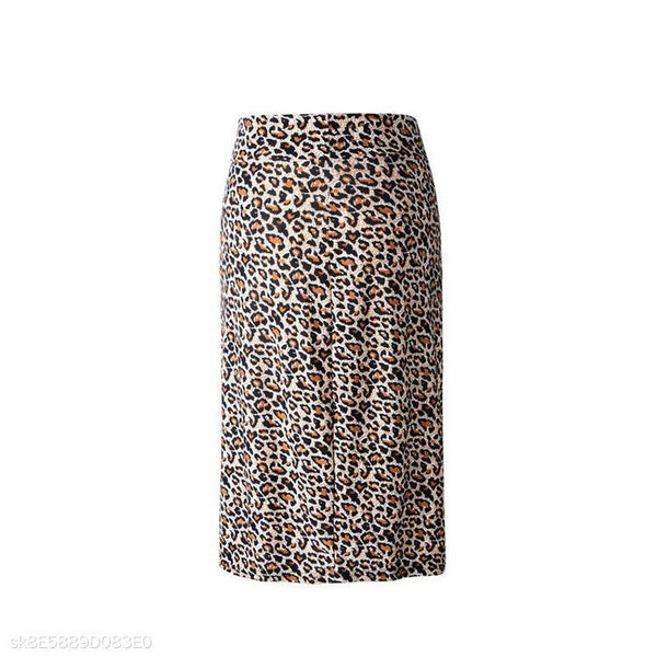 Sexy Leopard Package Hip Skirt