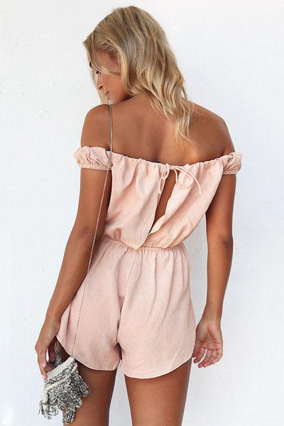Sexy Fashion Off Shoulder Tied Waist Romper