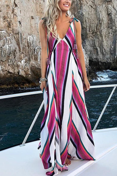 Elegant Fashion Floral Print Maxi Dress
