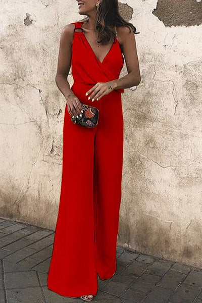 Sexy Fashion Plain Sleeveless Jumpsuit