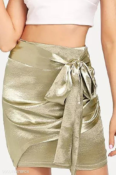 Sexy Gold Bow Tie Skirt