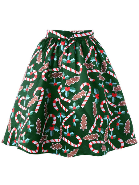 Christmas Fashion Printed Skirt