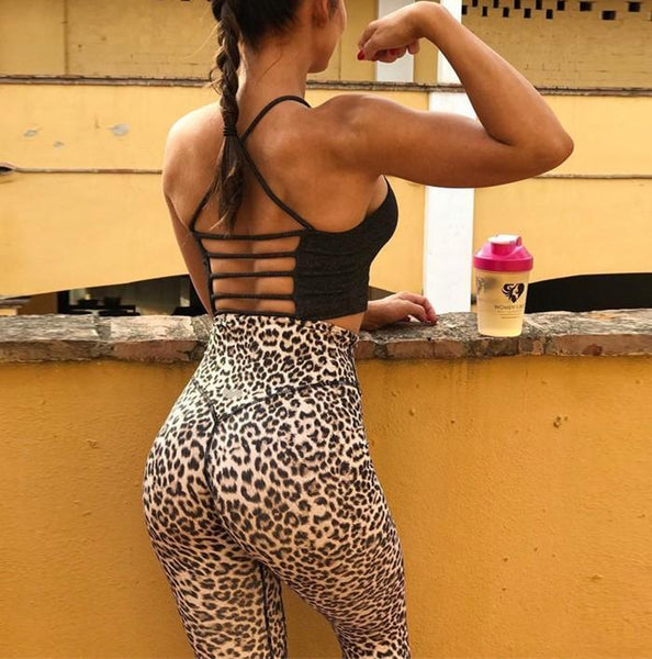 Leopard Print High-Waisted Hip Yoga Leggings