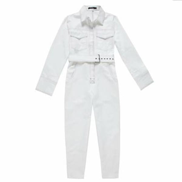 Polo Collar  Patch Pocket  Belt  Plain Jumpsuits