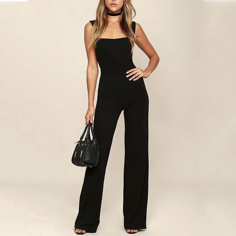 Sexy Sleeveless Slim Bell Jumpsuits