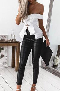 Long  Elegant  Plain Leggings