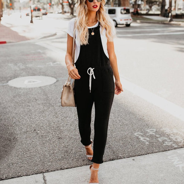 STYLISHPOP Fashion Solid Color Casual Jumpsuits