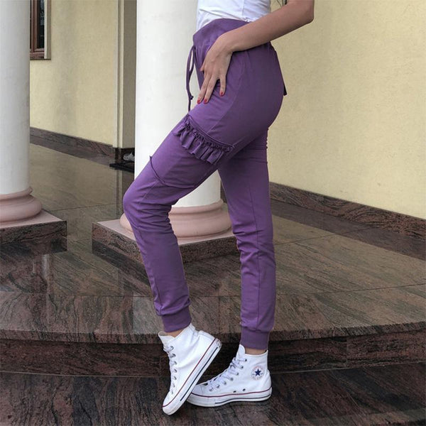 Casual Pure Colour Loose Casual Pants