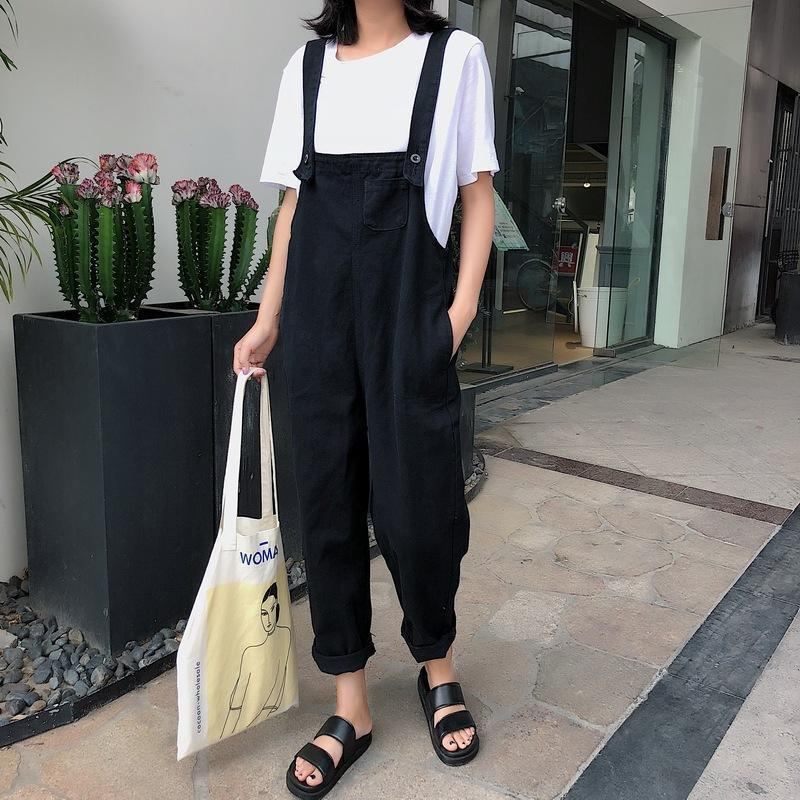 Casual Fashion Plain Harem Jumpsuit