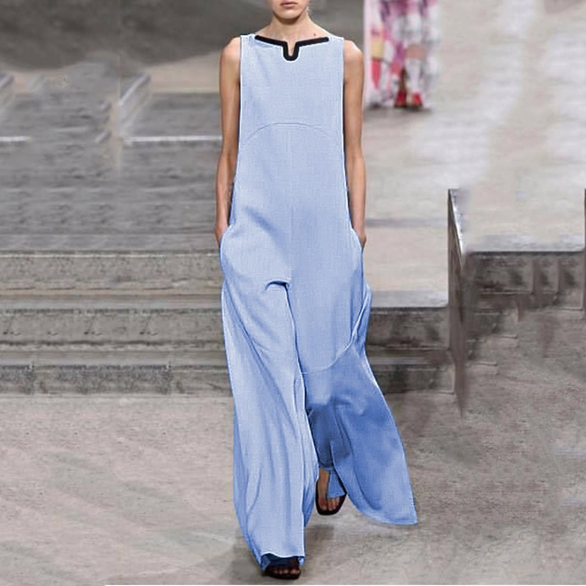 Fashion Casual Loose Solid Color Jumpsuits