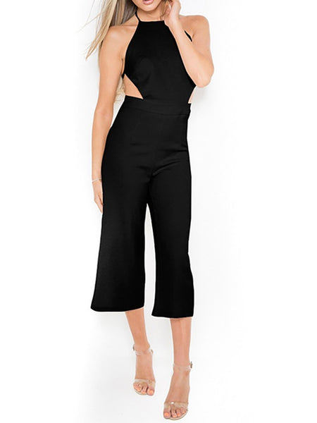 Sexy Bare Back Sling Wrap Chest Jumpsuits