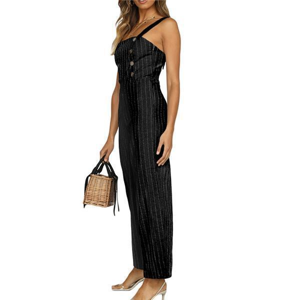 Sexy Sling Sleeveless Striped Jumpsuits