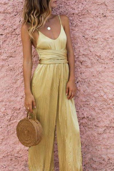 Sling Strapless Wide Leg Sexy Jumpsuit