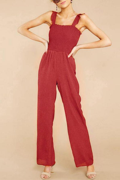 Fashion Solid Color Vest Jumpsuit