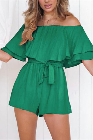 Women's Solid Color One-Piece Collar Jumpsuit