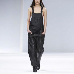 Women's Casual Pocket Zipper Jumpsuit