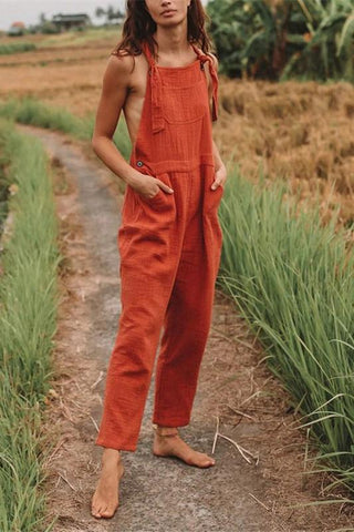 Women's Casual Solid Color Jumpsuit