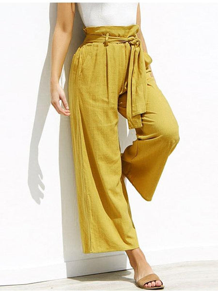 Casual Women's Loose Solid Color Trousers