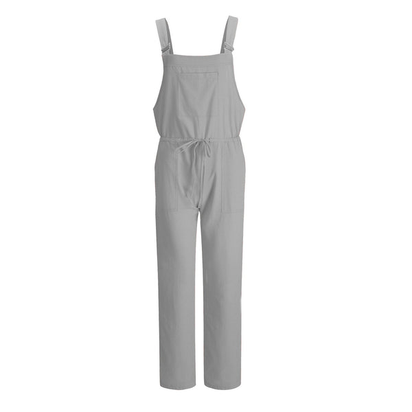 Pocket Loose Solid Color Jumpsuit