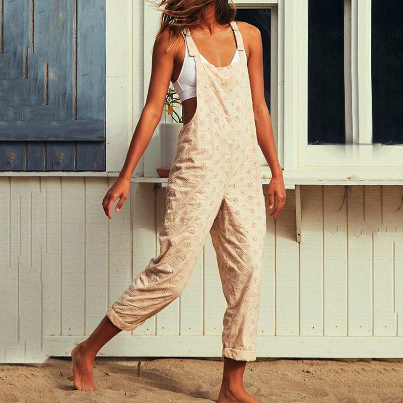 Casual Sling Printed Sleeveless Jumpsuits