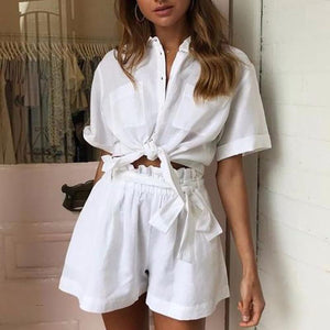 Casual Turndown Collar Pure Colour Suit