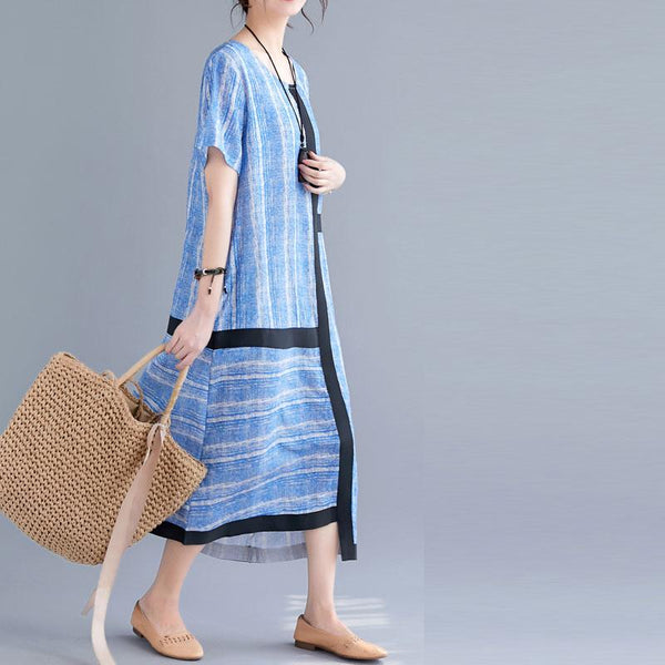 Casual Irregular Stitching Short Sleeve Dress