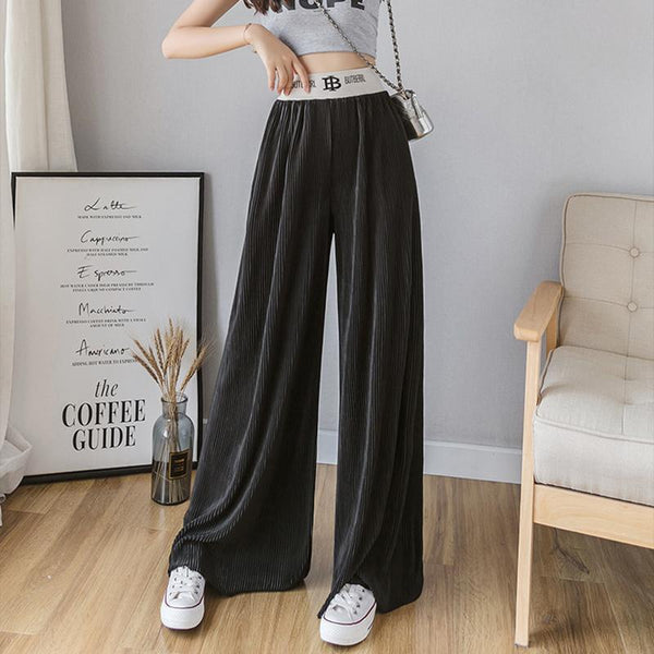 Casual Loose  Pure Colour Wide Leg Pants