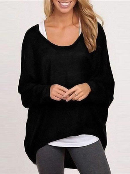Blouse Casual Loose Tops Shirts Sweater Pullovers