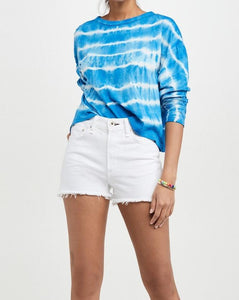 Women Tie Dye blue casual Sweatshirt