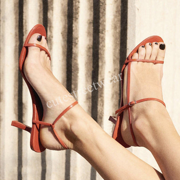 Summer Women  Gladiator Simple Design High Heel Sandals