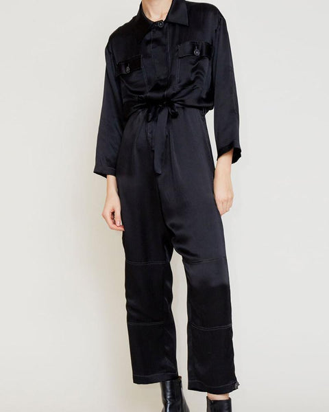 Pocket Button Stitching Shirt Trousers Silk Suit