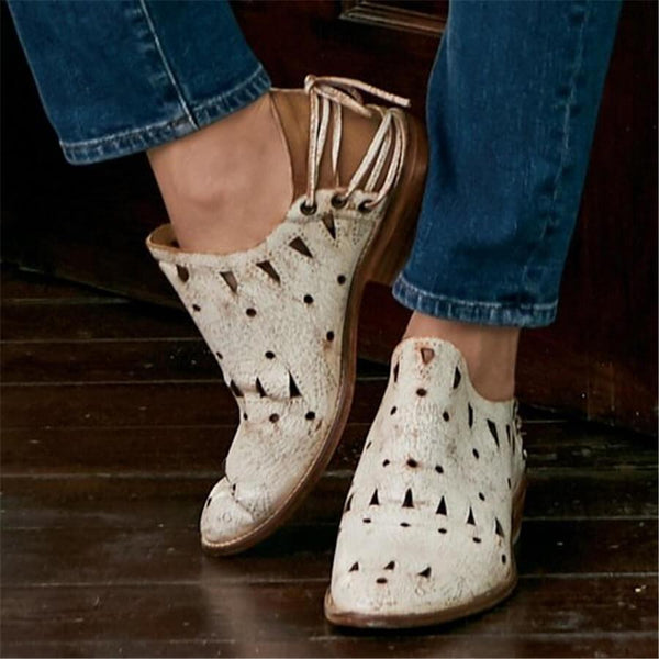 Fashion Retro Openwork Ankle Boots
