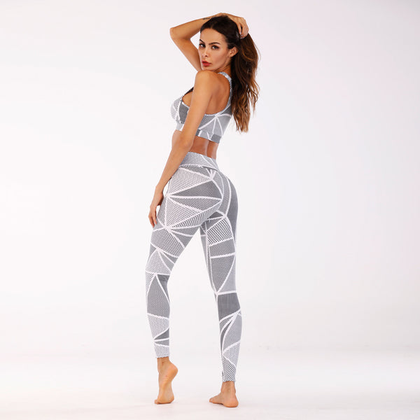 Women's New 3D Printing Yoga Fitness and Leisure Suit