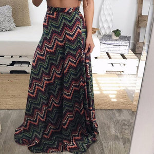 Fashion Bohemia Loose Floral Printed Skirt