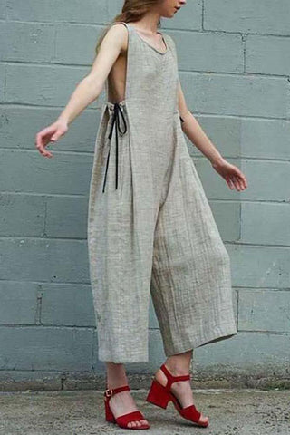 Linen Laced Literary Jumpsuit