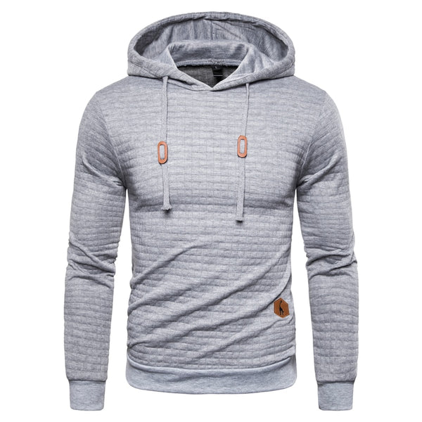 New Spring Autumn Hoodies Men Casual Hooded Men's Sweatshirt Plaid Pullover Hoodie