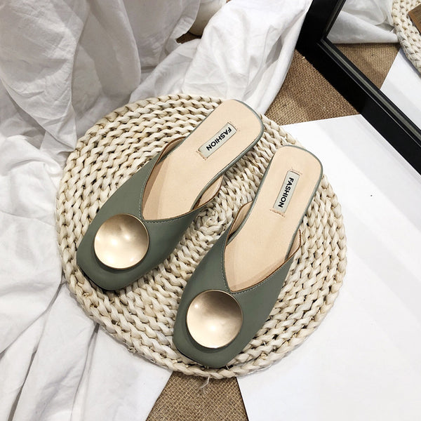 INS Fashion Women Slippers Mules Shoes Streetwear