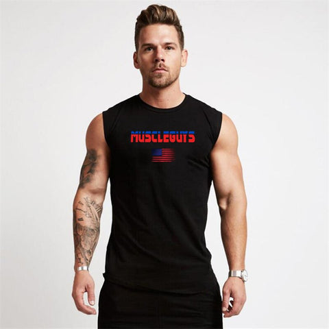 Muscleguy Brand Summer Tank Tops Quick Drying Sleeveless Vest Summer Men  Jogging Vest