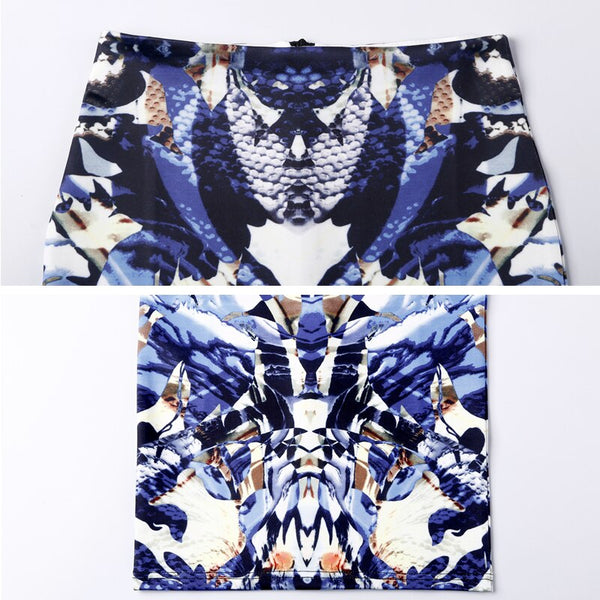 High Waist Women 2020 Summer  Printed Midi Sexy Pencil Skirts Vintage Bodycon Skirt