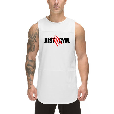 New Brand fashion mesh sleeveless shirt mens Bodybuilding vest just gym clothing