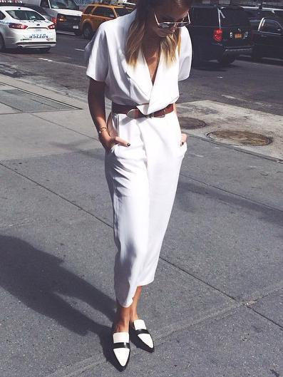 Loose Casual Cotton And Linen Jumpsuit