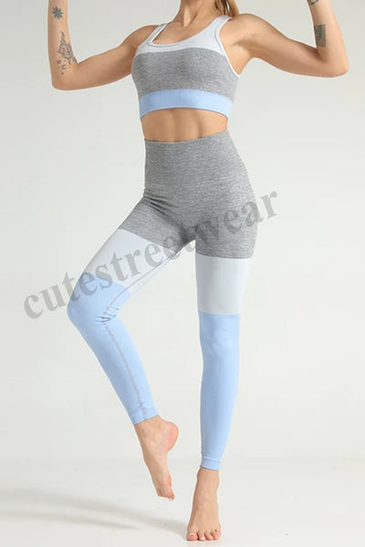 Seamless Hit StitchIng Yoga Set Sports Running Fitness Wear BraY Pants Sports Pants Sports Set