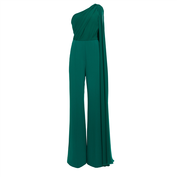 Sexy One Shoulder Solid Color Jumpsuits